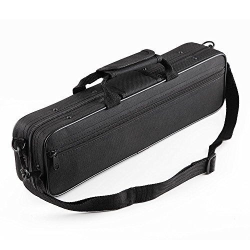 Vangoa Waterproof Carrying Padded Flute Gig Bag Flute case for 16 Holes Flute C Foot Flute with Adjustable Single Shoulder Strap and exterior pocket