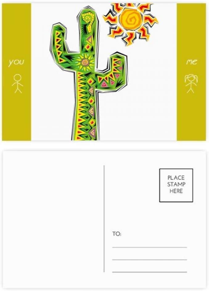 Hand-painted Cactus Mexico Culture Element Friend Postcard Set Thanks Card Mailing Side 20pcs