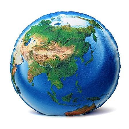Bargain World Mapa del Mundo Creativa Almohadas Forma de Pelota de ...