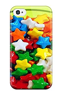 First-class Case Cover For Iphone 4/4s Dual Protection Cover Star Candy Food Candy