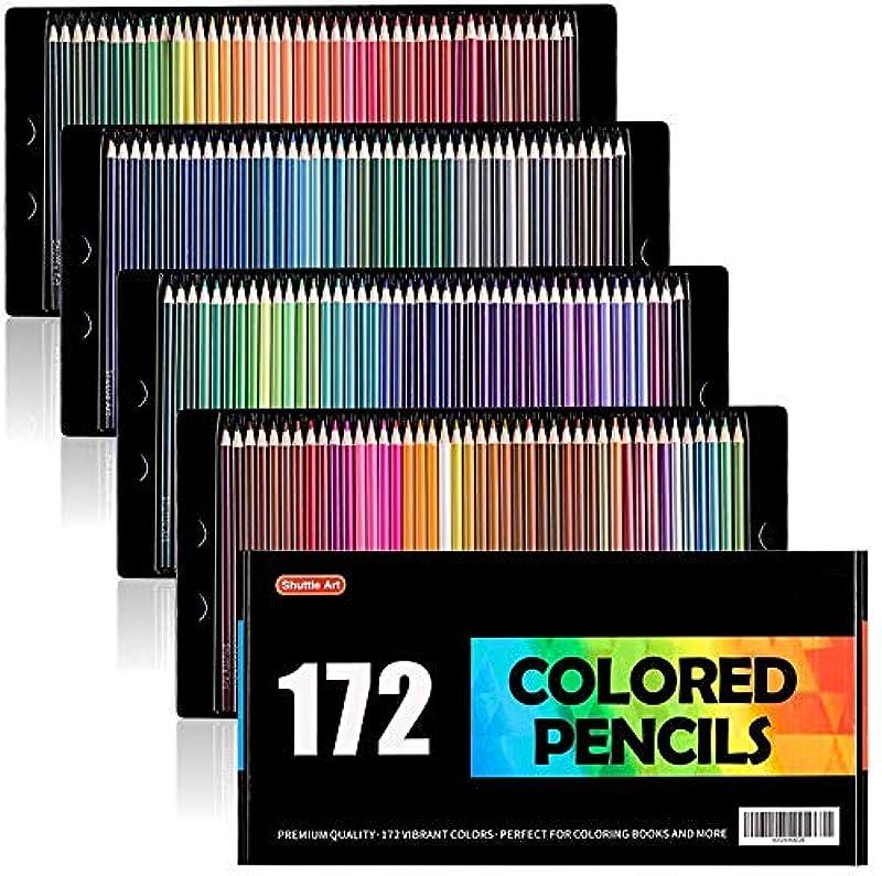 Shuttle Art 색연필 컬러 펜 172 색 세트