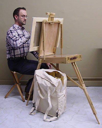 French Style Sketch Box Easel, Backpack & Stool by Jack Richeson