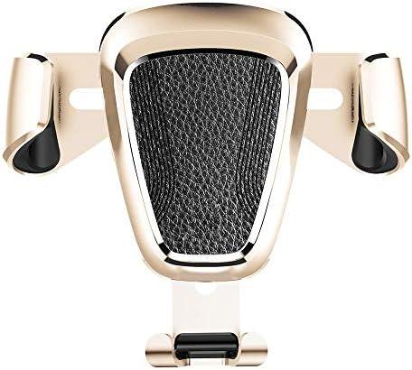 車載ホルダー 車 携帯電話 ブラケット 付属品 自動理性的 空気出口 運行ブラケット L.P.L (Color : ゴールド)