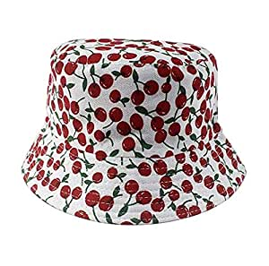 2-6 Years Baby Bucket Sun Protection Hat Kids Sun Hat Breathable Cotton Kids Sun Hat Red Cherry
