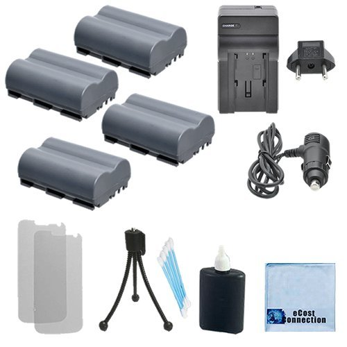 (4 BP-511 Rechargeable Camcorder Batteries + Car/Home Charger for Canon FV100, FV200, FV30, FV300 KIT, FV300, FV40 KIT, FV40, FVM1, FVM10, IXY DVM, MV100Xi & More. Cameras + Complete Starter Kit)