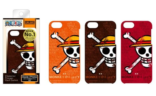 One Piece Character Vintage iPhone 5 Case (Luffy/Pirate's Flag/Red)