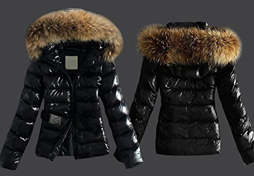 cooshional Damen Daunenmantel Steppmantel mit Fellkapuze Daunenjacke Wintermantel Warm Mantel Jacke, ,