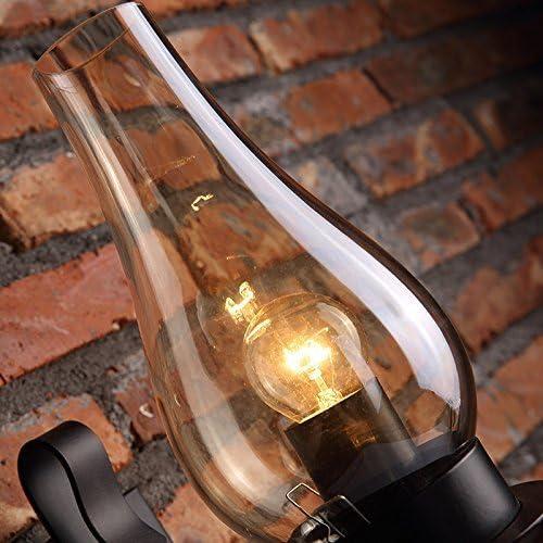 Vintage Schmiedeeisen Wandlampe Industrie Wind Metall Wandlampe Für Europäische Schlafzimmer Nacht Glas Gang Bar