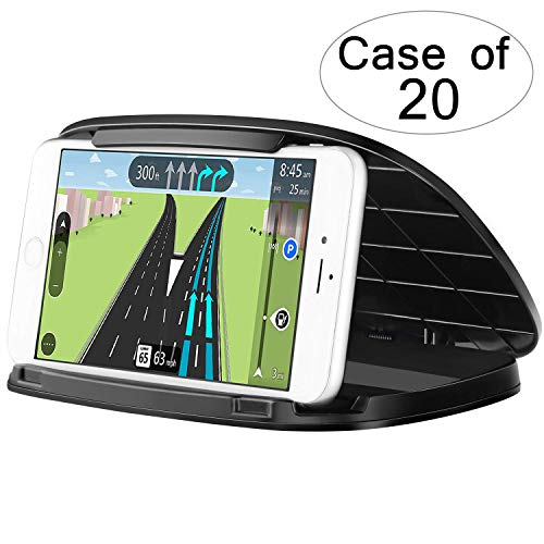 Case of 20 Packs,1/Pack,Cell Phone Holder for Car,Durable Car Dashboard Phone Mount for Samsung Galaxy S10 S10 Plus S9 S8,Reusable Slim Cradle Phone Holder