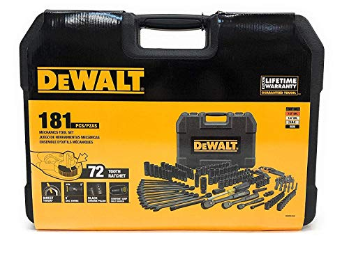 DEWALT DWMT81522 Mechanics Tool Set, Black Chrome Polish, 181 ()