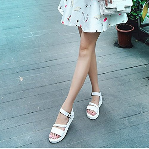 Black Wedge Walking Women T Strap Platform for Ladies On Ankle Dressy Buckle JULY Sandals Fashion Comfy Slip Sandals Espadrilles WYUqF1Uw