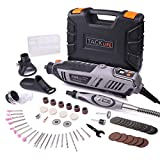 Rotary Tool Kit 1.8 Amp with Digital LCD Display for Speed Adjustable, Flex shaft, 60 Accessories, 3 Attachments, Carryring Case, Multi-Functional for Around-The-House and Crafting Projects - RTD37AC