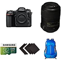 Nikon D500 DX-Format Digital SLR Macro Photography Lens Kit w/ AmazonBasics Accessories