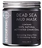 Facial Mask Eczema - O Naturals Dead Sea Mud Mask with Charcoal - 100% Natural Vegan Detoxifying Face & Body Mask for Deep Cleansing, Treating Acne, Exfoliating Skin, Reducing Wrinkles, Purifying & Pore Minimizing 8.45 oz.