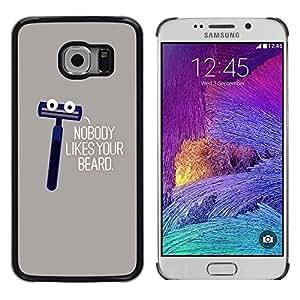 TopCaseStore / la caja del caucho duro de la cubierta de protección de la piel - Shave Beard Hipster Humor Funny - Samsung Galaxy S6 EDGE SM-G925
