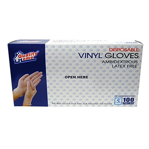 Disposable Vinyl Glove Box 100PK Small , Case of 48 by DollarItemDirect