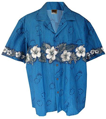 New Xxl Aloha Hawaiian Shirt (Hawaiian Shirt Hawaii New Hibiscus Aloha Shirtin Blue (XXL))