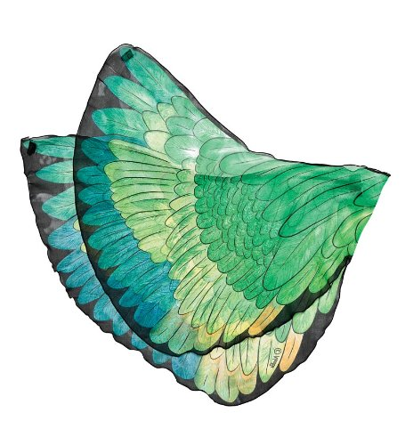 [Fanciful Fabric Fanciful Parrot Wings, in Green] (Parrot Costume Wings)
