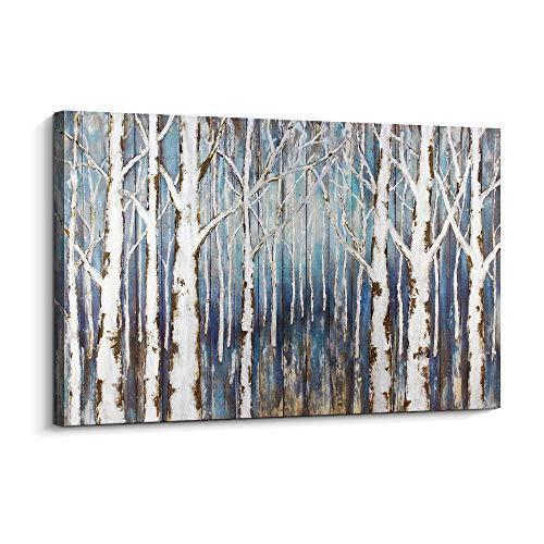 Pinetree Art Silver Canvas Tree Wall Art Birch Trees Canvas