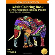 Adult Coloring Book: Stress Relieving Stunning Designs: 120 Unique Images