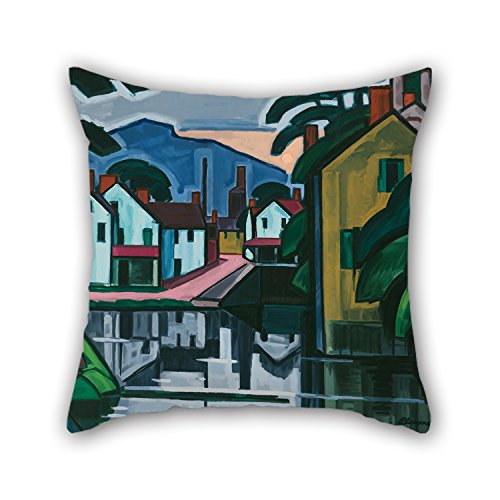 Slimmingpiggy 20 X 20 Inches / 50 By 50 Cm Oil Painting Oscar Bluemner - Old Canal Port Pillow Covers,twin Sides Is Fit For Teens,outdoor,lounge,valentine,bedroom,monther