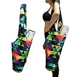Aozora Yoga Mat Bag | Yoga Mat Tote Sling Carrier with Large Side Pocket & Zipper Pocket | Fits Most Size Mats