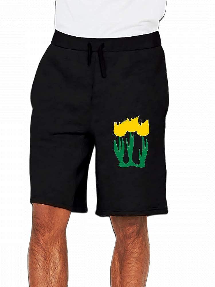 Three Yellow Tulips Mens Casual Shorts Pants