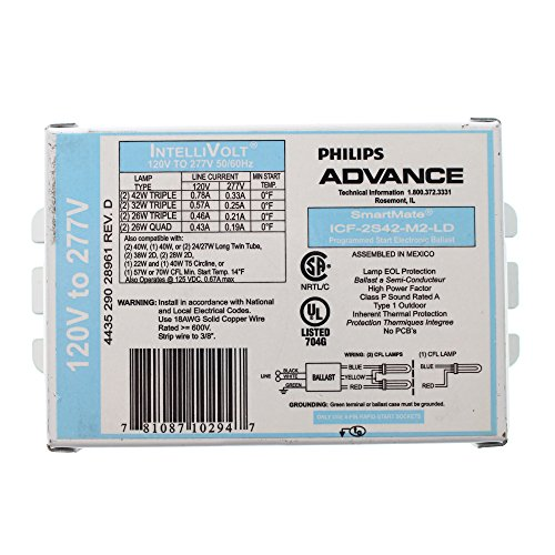 Philips Advance ICF-2S42-M2-LD SmartMate Advance IntelliVolt Ballast - Intellivolt Electronic Ballast