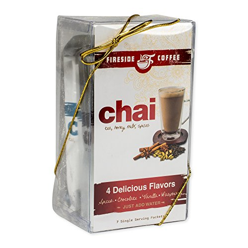 Fireside Gourmet Creamy Chai Tea Assorted 7 Pack Set: Spiced, Chocolate, and Vanilla by Fireside Gourmet