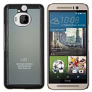 Vida motivación- Metal de aluminio y de plástico duro Caja del teléfono - Negro - HTC One M9+ / M9 Plus (Not M9)