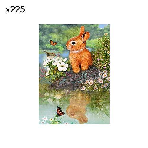 lightclub 40x30cm Owl Cat Dog Rabbit Partial Round Diamond Painting DIY Wall Art Decor - x225]()
