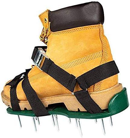 YAALO Zapatos De Aireador De Césped De Jardín, para Airear Eficazmente El Césped Zapatilla con Aireador De Césped con Hebilla Triangular De Metal Talla única para Aireación Efectiva del Suelo-A: Amazon.es: Jardín