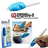 Cordless Engraving Pen for Glass Leather Metal