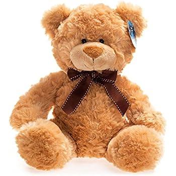 """10.5/"""" Dark Brown Teddy Bear Aurora Plush Stuffed Animal Toy /""""Coco Bear/"""" 09838"""