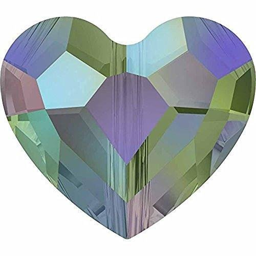 (5741 Swarovski Crystal Beads Love Heart | Crystal Paradise Shine | 8mm - Pack of 16 | Small & Wholesale Packs )