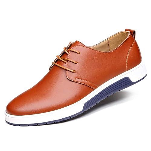 Huatime Cuero Zapatos Hombre Hombres Cordones Oxford