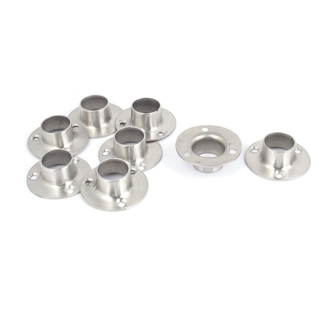 5 Stück Kleiderschrank Spurstangenkopf Kleiderstange Halterung für 32mm Rohr