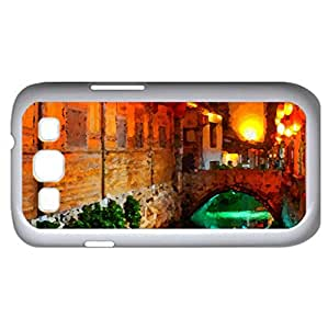 A Place To Remember (Bridges Series) Watercolor style - Case Cover For Samsung Galaxy S3 i9300 (White)