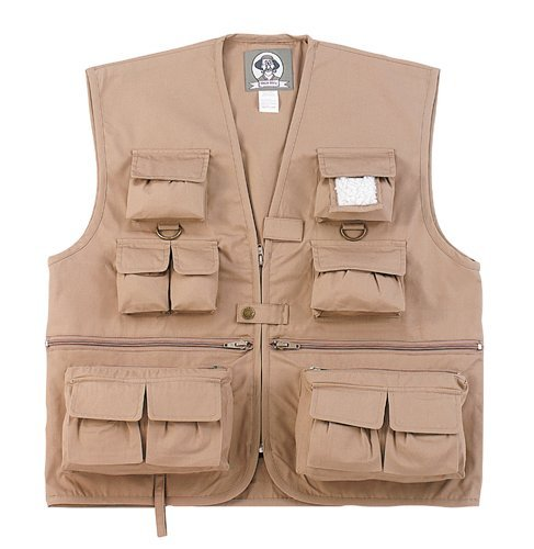 Kids Vest Uncle Milty – Khaki, Medium, Outdoor Stuffs
