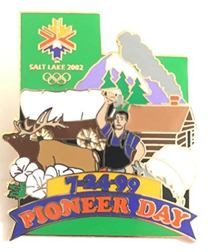 (Pioneer Day 1999 Salt Lake City Winter Olympics 2002 Pin LE 1322/5000)