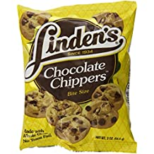 Linden's Chocolate Chip Chippers Cookies Thirty-Six 2 Ounce Bags