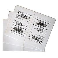 200 etiquetas de envío Adhesivo blanco de media página en blanco para impresora láser de inyección de tinta
