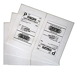 200 Shipping Labels White Blank Half Page Self Adhesive for Laser Inkjet Printer