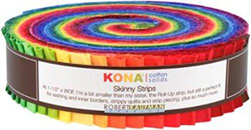 Studio RK Kona Cotton Solids Classic Skinny Strips Robert Kaufman Fabrics - Stores Honey