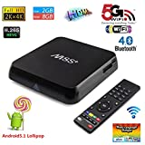 Henscoqi M8S Plus TV Box Amlogic S812 Quad Core Supports 2.4GHz and 5GHz WIFI 1000M Ethernet H.265 Airplay Miracast 3D Blu-ray
