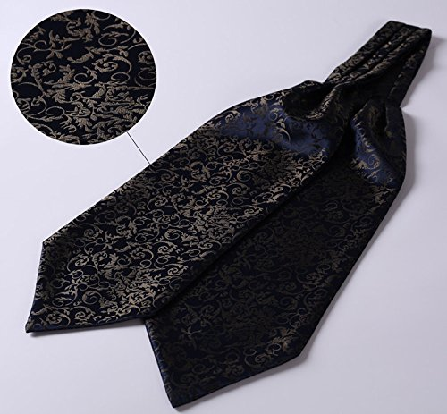 cdabe6f3608d4 BIYINI Men's Paisley Floral Ascot Handkerchief Jacquard Woven Cravat & Pocket  Square Set ...