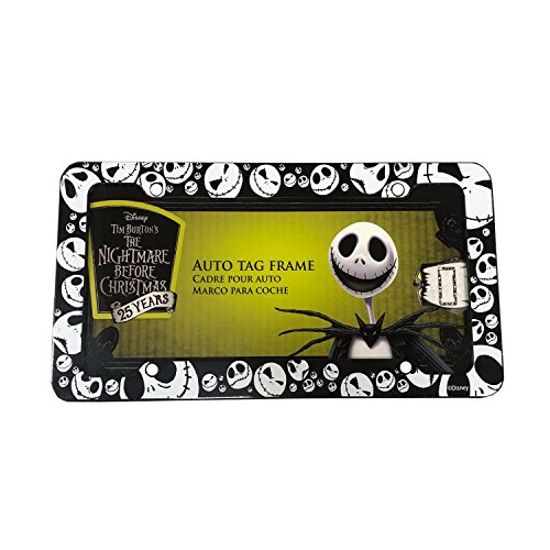 Disney Nightmare Before Christmas Jack Skellington Plastic License Plate frame (One)]()