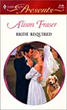 Bride Required, Alison Fraser, 0373121490