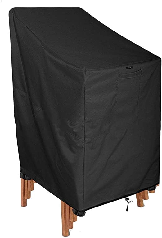 LPD- Fundas para Muebles De Jardín Impermeable Funda De Sillas para Patio Respirable Tela De Oxford Guardapolvo, Negro (Size : 65x65x80cm): Amazon.es: Jardín