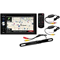 Boss Audio Systems BN9384WRC Boss Audio Double-Din, 6.2 Inch Screen, Bluetooth, Navigation, DVD/CD/MP3 Am/FM Receiver, Wireless Backup License Plate Camera Included